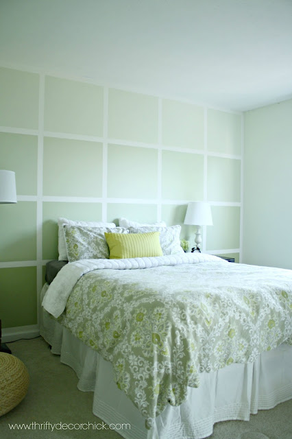 Ombre square accent wall