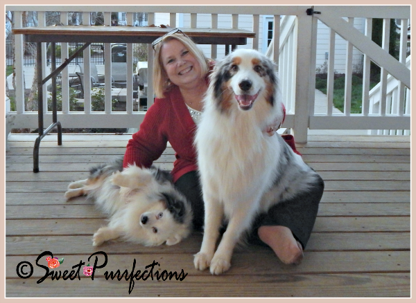 Mom Paula with Sydney and Smokey (her sister's dogs)