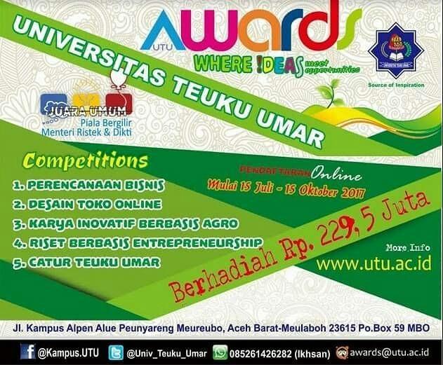 Event UTU Awards 2017 | Univ. Teuku Umar | Mahasiswa
