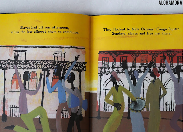 Freedom in Congo Square by Carole Boston Weatherford and illustrated by R. Gregory Christie won the Caldecott Honor for this amazing historical fiction picture book.  A book about the slaves in New Orleans that were allowed to meet in Congo Square every Sunday to celebrate them.  Simple, rhythmic, rhyming, historical, powerful. Alohamroa Open a Book www.alohamoraopenabook.blogspot.com