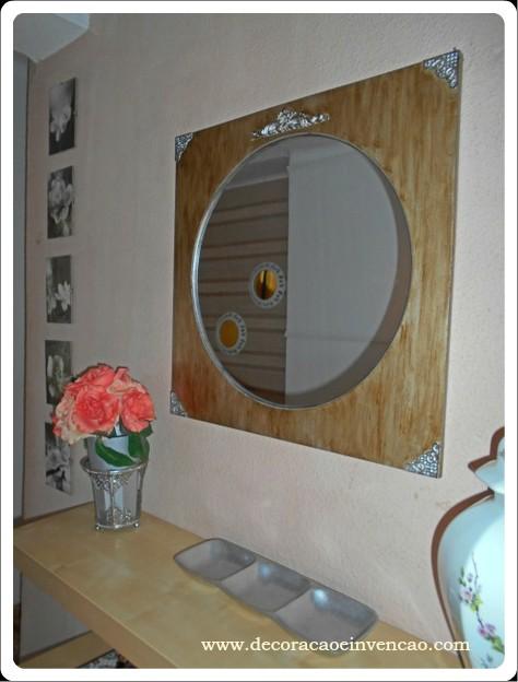 espelho antigo prateado