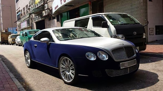 Bentley Continental Gt Gets Blue Velvet Wrap