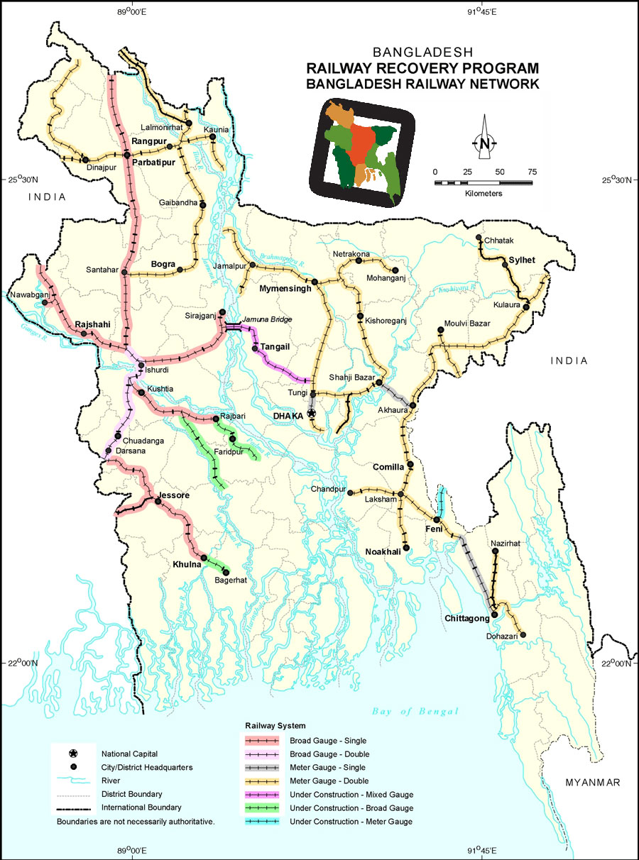 Railway Network Map Bangladesh