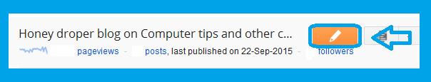 Blogger Post editor pencil icon
