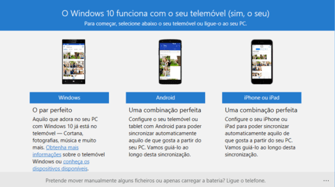 Como sincronizar o Windows 10 com o Android