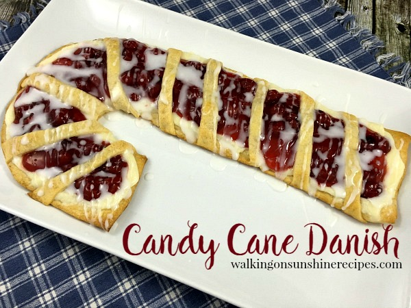 Candy Cane Cream Cheese Danish is really easy to make if you follow these step-by-step instructions from Walking on Sunshine Recipes.