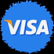 visa social button