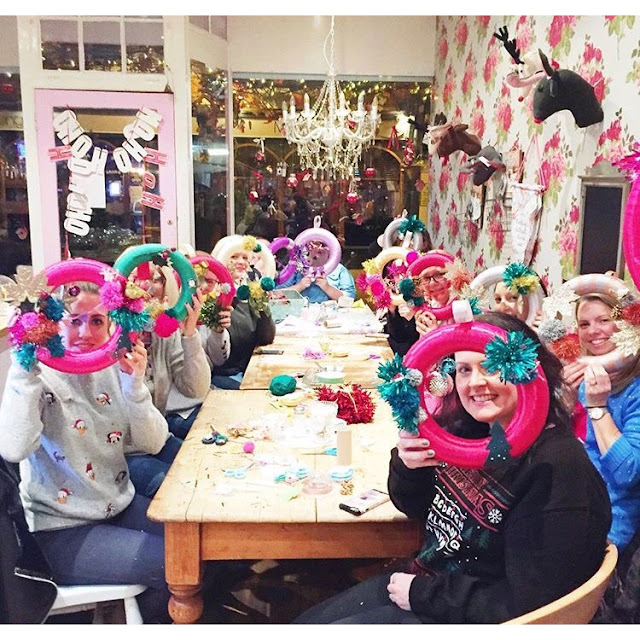 Kitsch Christmas Wreath DIY How To Make - Workshop Make Do & Trend at Pretty Things Horsham