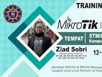 Design Banner Training dan Sertifikasi MikroTik STMIK Pringsewu