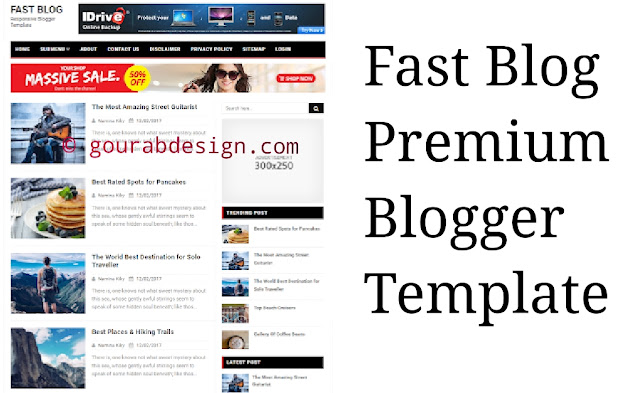 Fast blog responsive blogger template