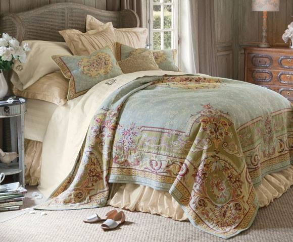 Vintage My first purchase was this Belgian tapestry bedspread I fell in love with the look of it in a Soft Surroundings catalogue and that is usually all I need