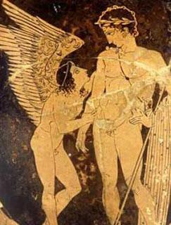 En la mitología griega, Hímero era la personificación de la lujuria y el deseo sexual. Aparece en la Teogonía de Hesíodo como acompañante, junto con Eros, de Afrodita. Se le representaba como un joven alado, igual que al resto de los Erotes, y con frecuencia acompañado de Eros y Poto, dioses del amor y el anhelo.