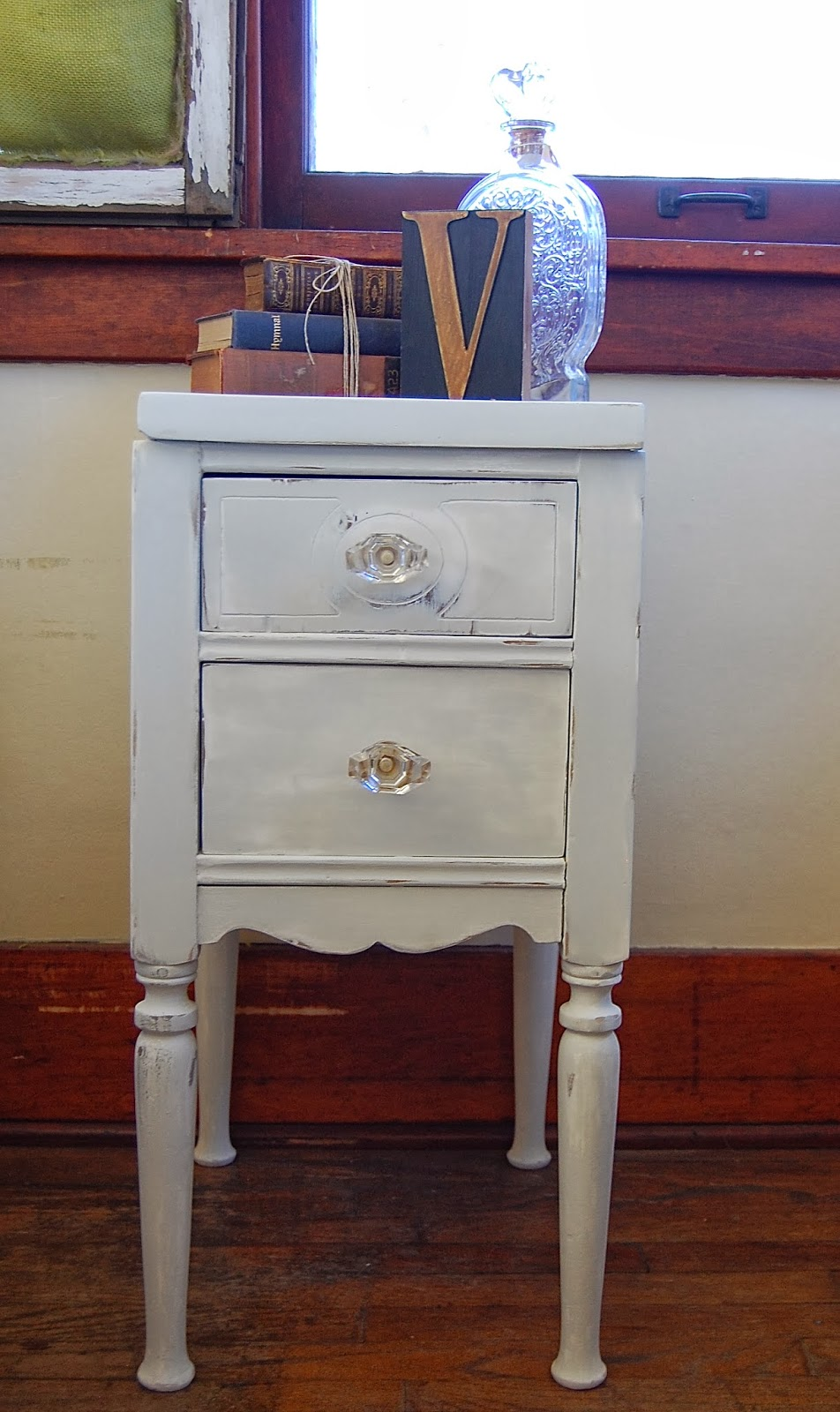Simplycozyrestoration Shabby Chic Antique Bedside Table