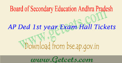 AP Ded 1st year hall tickets 2019 | ap d.ed first year hall ticket