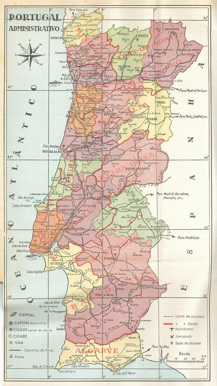 mapa administrativo de portugal MEMÓRIASe outras coisas: Mapa administrativo de Portugal mapa administrativo de portugal