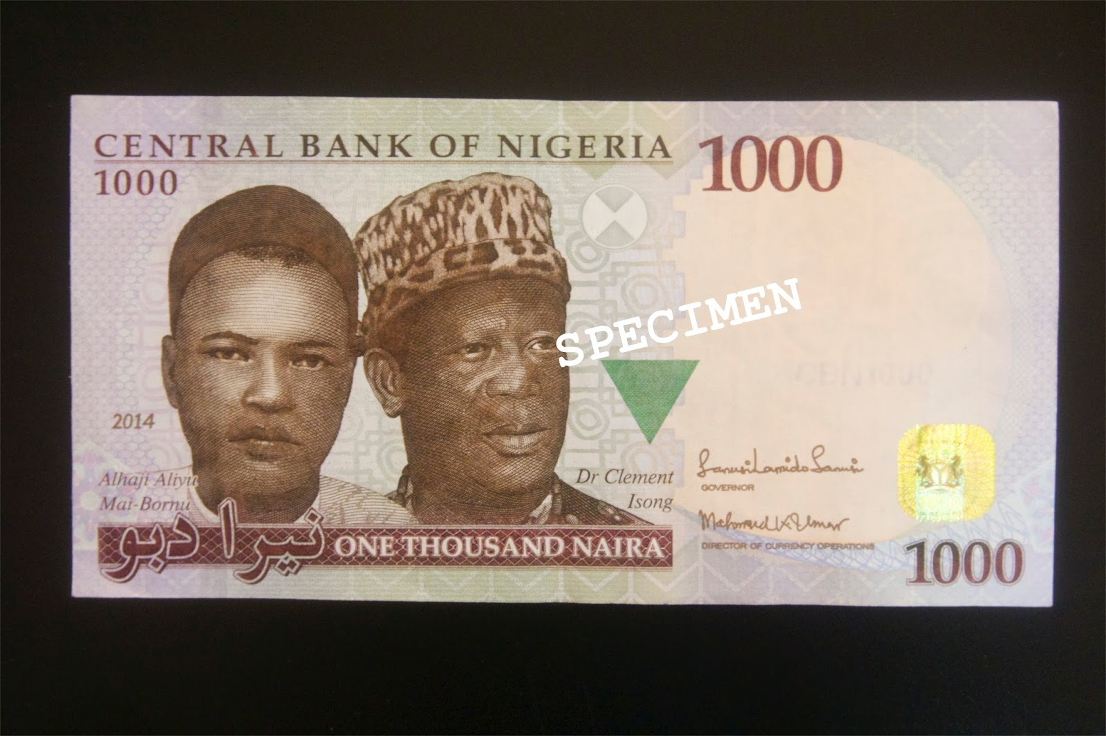 Image result for 8. ₦1,000- Sir Clement Isong and Aliyu Mai Bornu.