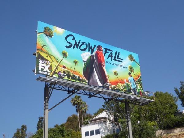Snowfall series premiere billboard
