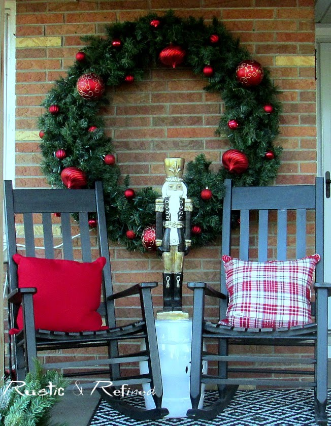 Front Porch decorated for Christmas