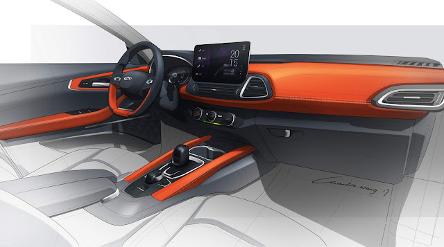 Novo CHery SUV = interior