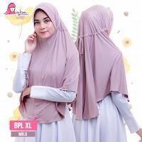 hijab miulan bpl xl jumbo warna milo jilbab plain laura syari