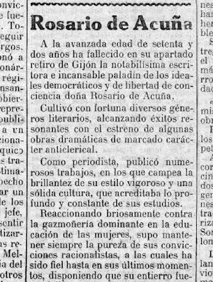 Fragmento de la necrológica publicada en El Socialista