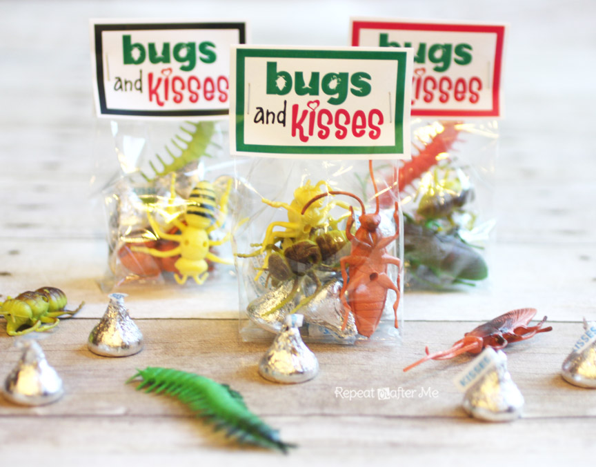 photo about Bugs and Kisses Printable named Insects and Kisses Valentine - Repeat Crafter Me