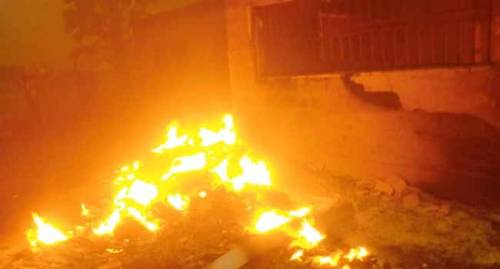 Election Materials Destroyed As Fire Razes INEC Office In Plateau