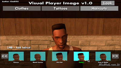 gta sa mod cleo visual player image change clothes mudar roupa mouse gui