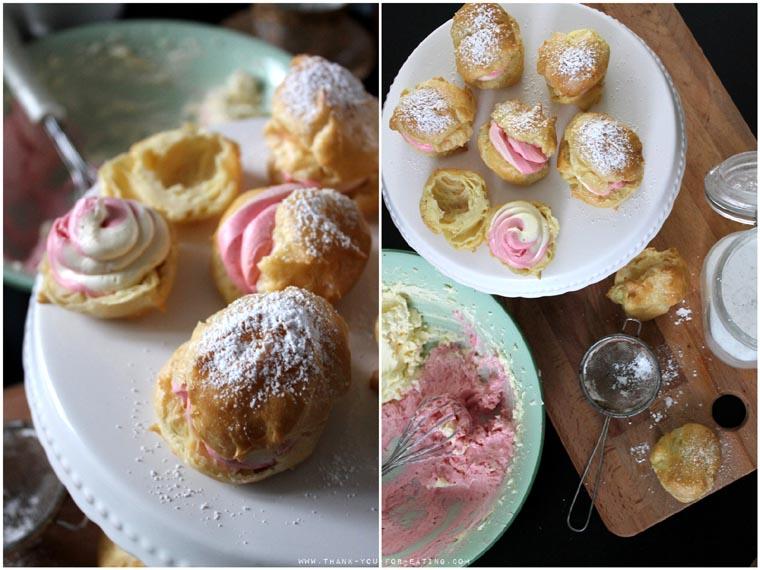 Pastel Creampuffs - Rezept für süße Windbeutel