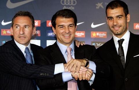 Pep ra mắt đội một Barca năm 2008