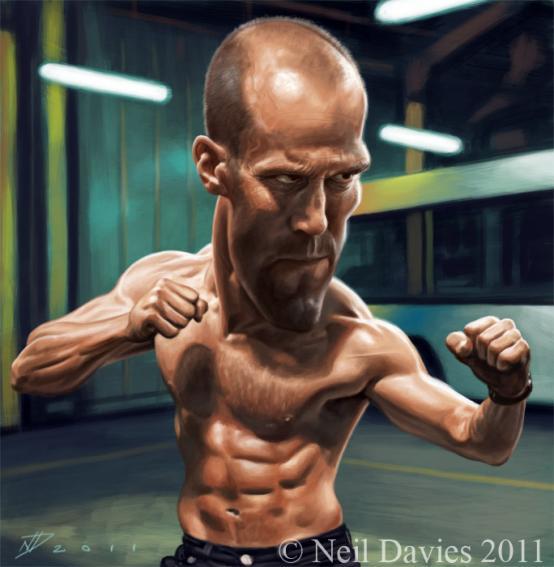 Jason Statham por Neil Davies
