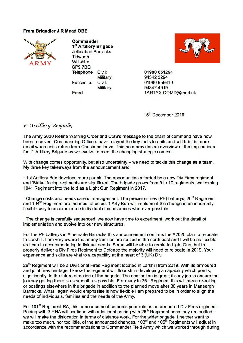 Uk armed forces commentary army 2020 refine even worse than the letter provides hints of what happens to the royal artillery spiritdancerdesigns Choice Image