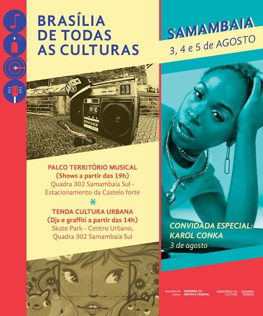 Brasília de Todas as Culturas promove shows gratuitos em espaços públicos do DF