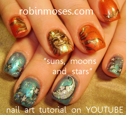Nail Art By Robin Moses Crackle Nail Polish Technique Foil