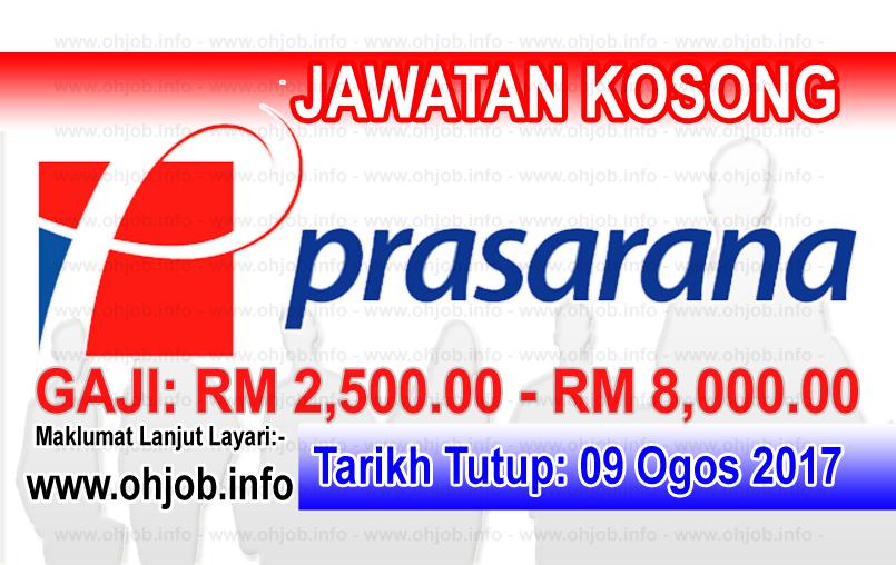 Jawatan Kerja Kosong Prasarana Malaysia Berhad logo www.ohjob.info ogos 2017