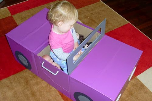 Toddler Car Wash Toy Diy Box Toy Recycle Cardboard