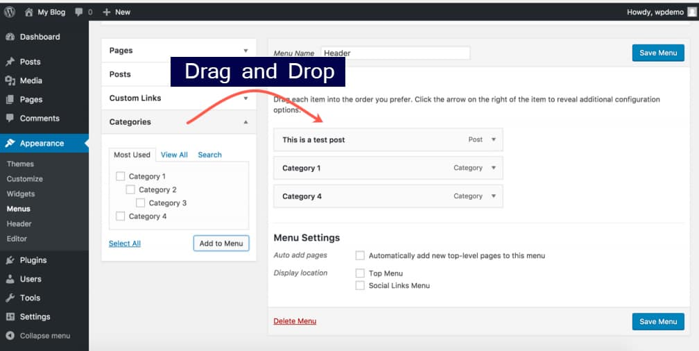 WordPress par Drag and Drop