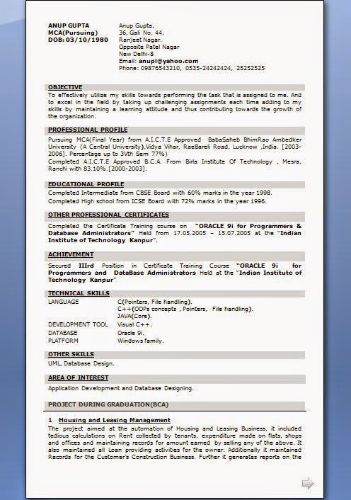 how to make a resume in html format - Resume In Html Format