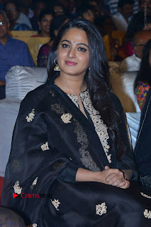 Actress Anushka Anushka Shetty Stills in Black Salwar Kameez at Om Namo Venkatesaya Audio Launch Event  0013.JPG