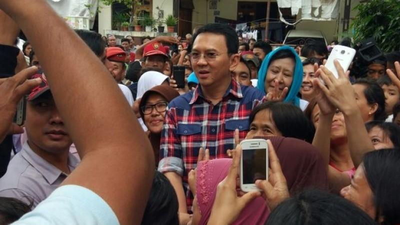 Ahok menjadi pusat perhatian warga Pondok Bambu, Jaktim