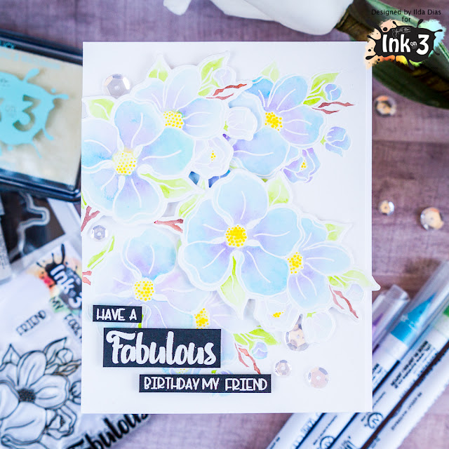 Dogwood Flowers Fabulous Birthday Card by ilovedoingallthingscrafty