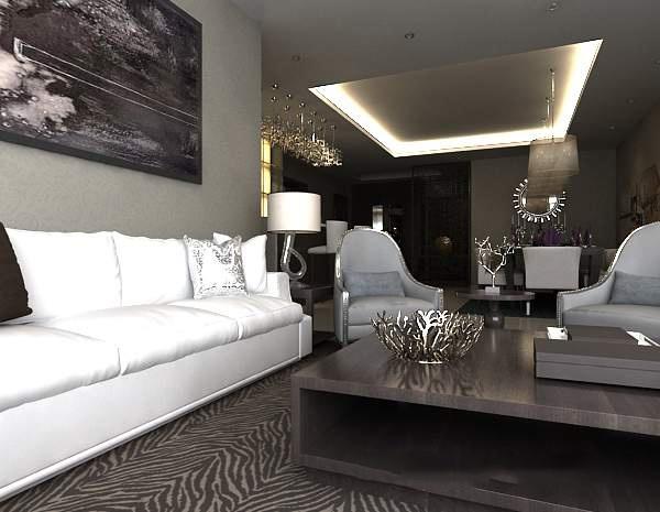 Modern minimalist living room home improvement model free 3ds max