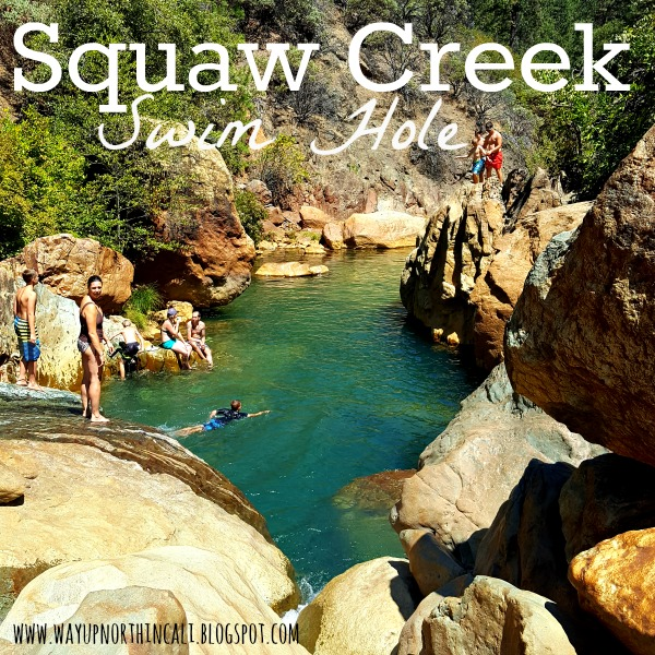 Squaw Creek Swim Hole, Shasta Lake, California. This blog has amazing things to do in Northern California. www.wayupnorthincali.blogspot.com