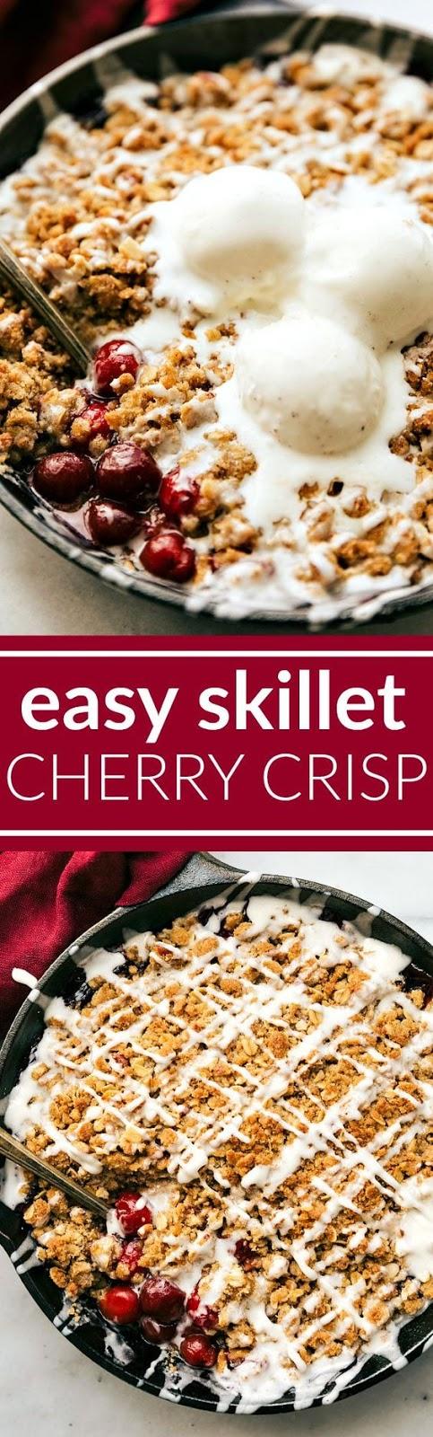 Easy Skillet Cherry Crisp
