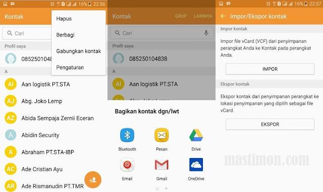 Cara ekspor dan impor kontak di semua merek HP Android dengan mudah