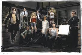 hecha para la serie héroes,muestra a el cast principal