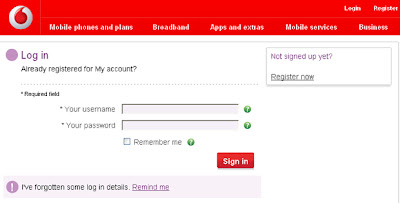 Vodafone co uk My Account