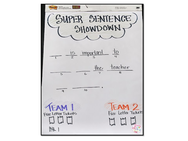 Looking for ways to practice using reading strategies with your students? This Super Sentence Showdown Game is the perfect reading strategy practice!