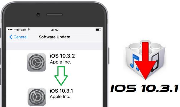 عمل رجوع من iOS 10 3 2 إلى iOS 10 3 1 للأيفون و الايباد
