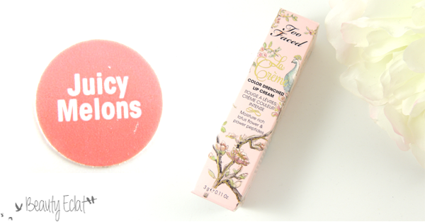 revue avis test too faced rouge a levres la creme juicy melons